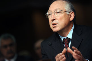 U.S. Interior Secretary Ken Salazar testifies during a Interior, Environment and Related Agencies Subcommittee hearing on Minerals Management Service reorganization June 23, 2010 in Washington, DC.