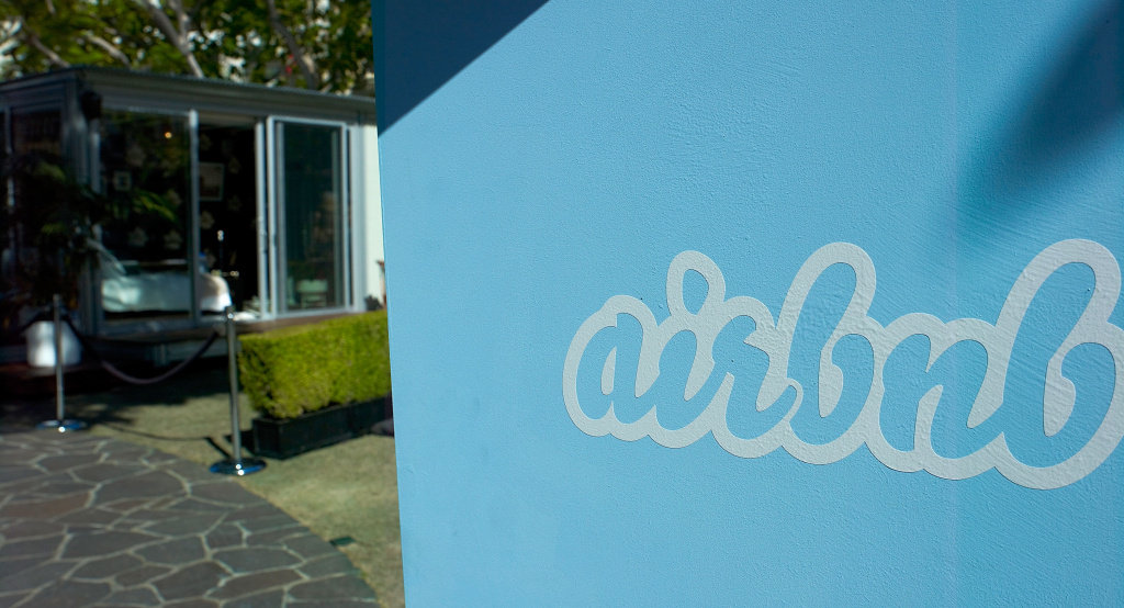 A general view of atmosphere is seen at Airbnb's Hello LA event at The Grove on September 30, 2013 in Los Angeles, California.