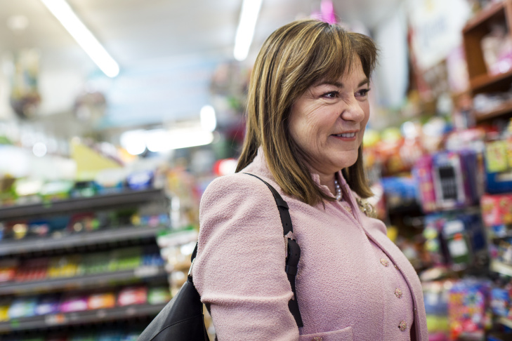 California congresswoman Loretta Sanchez, who is running for U.S. Senate, sits inside Tlaquepaque Restaurant in Placentia on Tuesday, Feb. 23, 2016. Sanchez has been visiting the restaurant, which used to be a bakery, since she was a child.