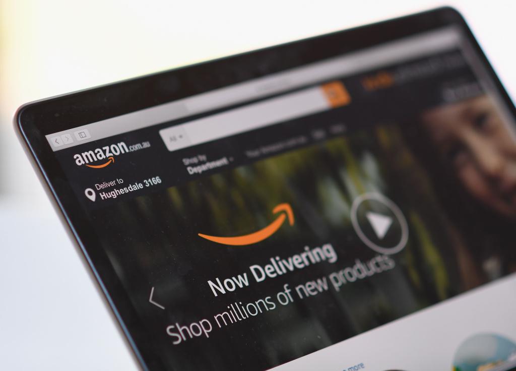 DThe Amazon website is seen on December 5, 2017 in Dandenong, Australia.
