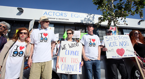 Actors Equity members recently picketed their own union over the proposal to end the 99-seat theater plan in Los Angeles.