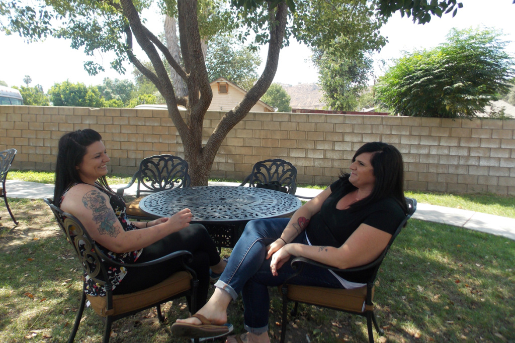Breann Johnson (left) and Brittany Stearns arrived at A Woman's Place in Riverside on the same day in May, both determined to get sober. The women, who are both on Medi-Cal, are making plans to go to a sober-living facility after leaving the center.