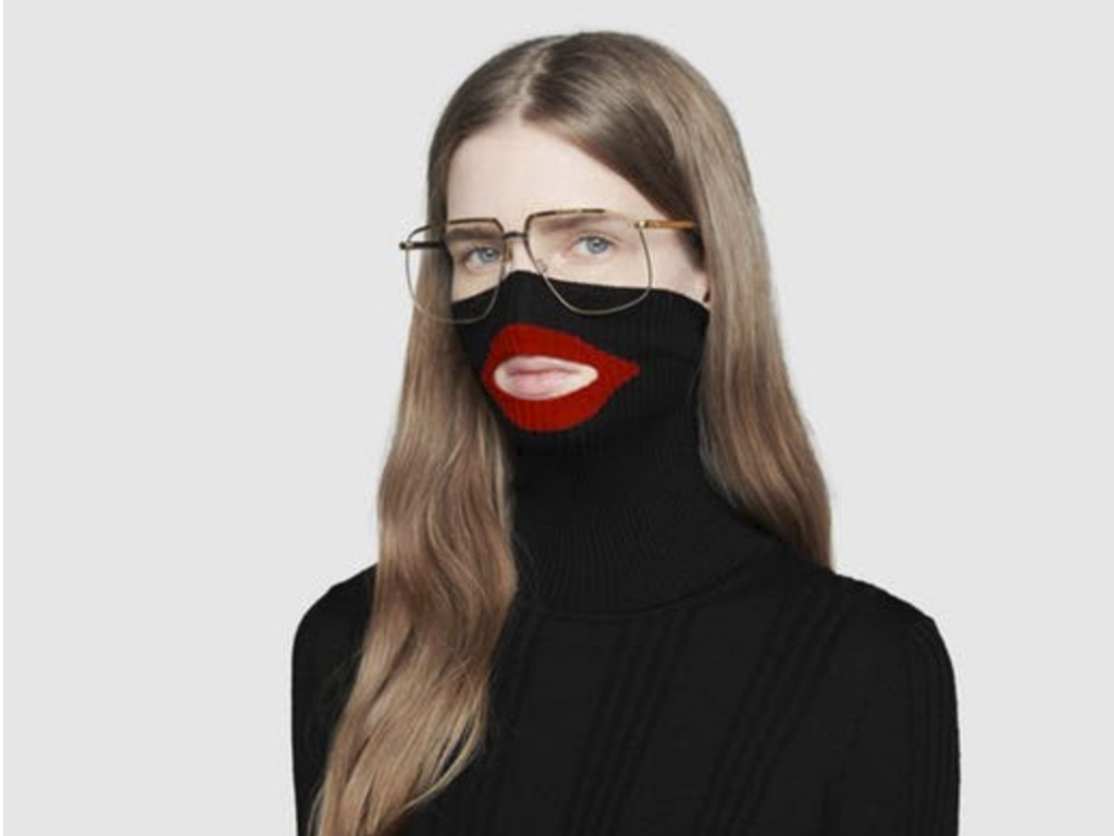 A screenshot showing Gucci's black turtleneck sweater before the luxury brand pulled it from its online and physical stores. Gucci apologized following complaints the garment resembled