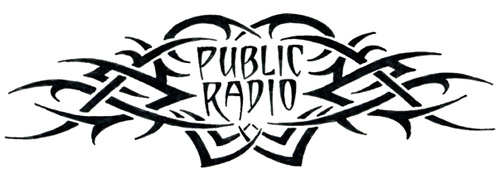 One of the things you can get if you donate during your local public radio station pledge drive is a collection of temporary public radio tattoos designed by real tattoo artists.