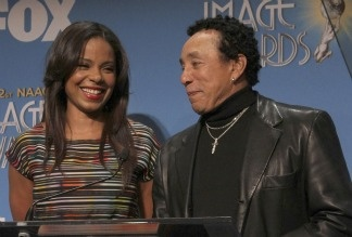 Actress Sanaa Lathan and singer Smokey Robinson attend the 42nd NAACP Image Awards nomination announcement and press conference on Jan. 12, 2011 in Beverly Hills.