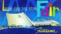 A brochure for Futurama, a World's Fair ride that showcased dioramas of how the future might look.