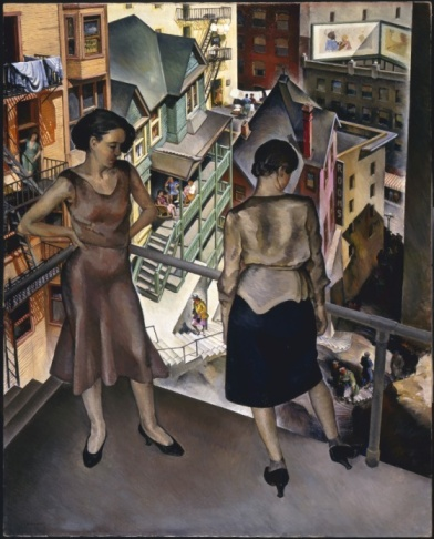 Angel's Flight; Millard Sheets (United States, California, Claremont, 1907-1989); United States, 1931; Paintings; Oil on canvas; 50 1/4 x 40 in. (127.635 x 101.6 cm); Gift of Mrs. L. M. Maitland (32.17)