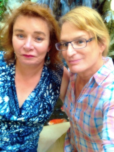 Dana Vahle and Zoey Tur, who as Dirk Vahle and Bob Tur, were the first two TV chopper pilots to follow OJ on June 17, 1994. They were arch enemies; now they're friends.