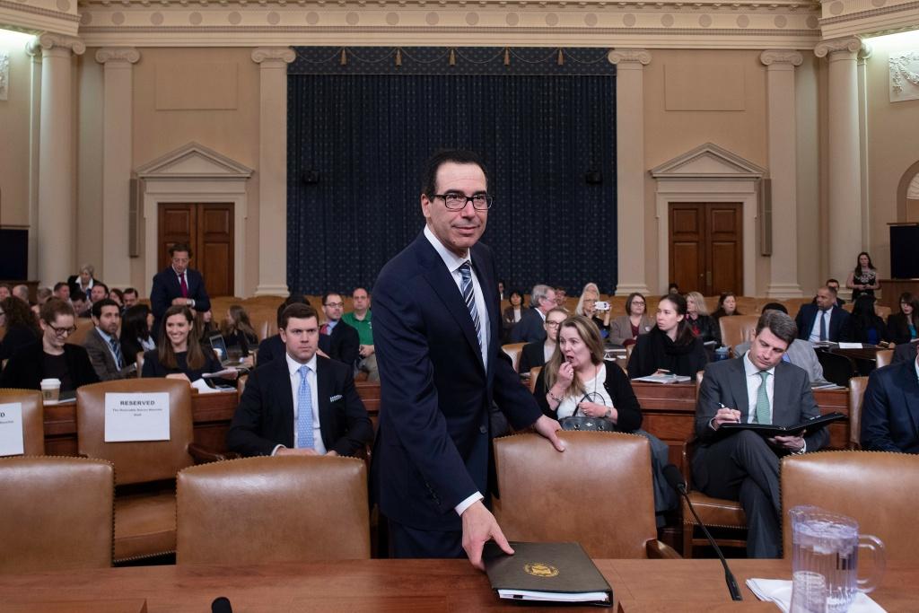 Treasury Secretary Steven Mnuchin testifies before the U.S. House of Representatives last month.