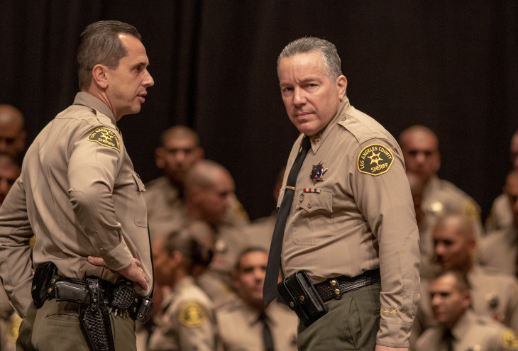 Los Angeles County Sheriff Alex Villanueva at the Jan. 4, 2019 graduation ceremony for the Sheriff's Academy class at East Los Angeles College.
