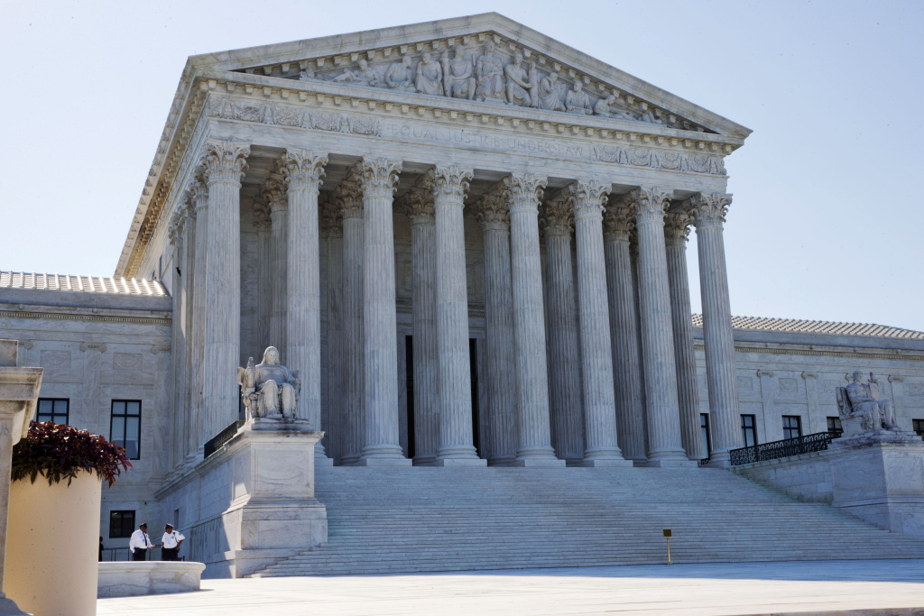 supreme court rules against epa power plant mercury limits 89 3 kpccmembers of security stand outside of the supreme court in washington, monday june 29,