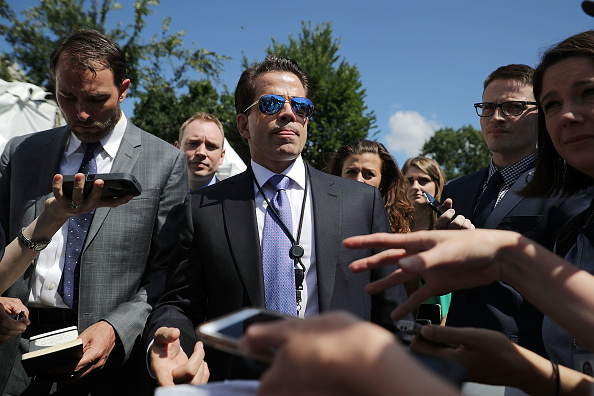 The White House announced White House Communications Director Anthony Scaramucci will no longer serve as Communications Director on July 31, just hours after President Donald Trump's new chief of staff, John Kelly, was sworn into office. In this July 25, 2017 file photo, Scaramucci talks with reporters during 'Regional Media Day' at the White House in Washington, DC.