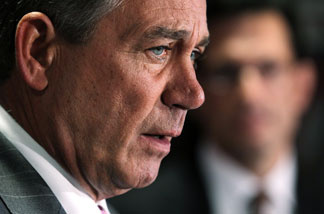 U.S. Speaker of the House Rep. John Boehner (R-OH) speaks during a media briefing at the Republican National Committee March 1, 2011 in Washington, DC.