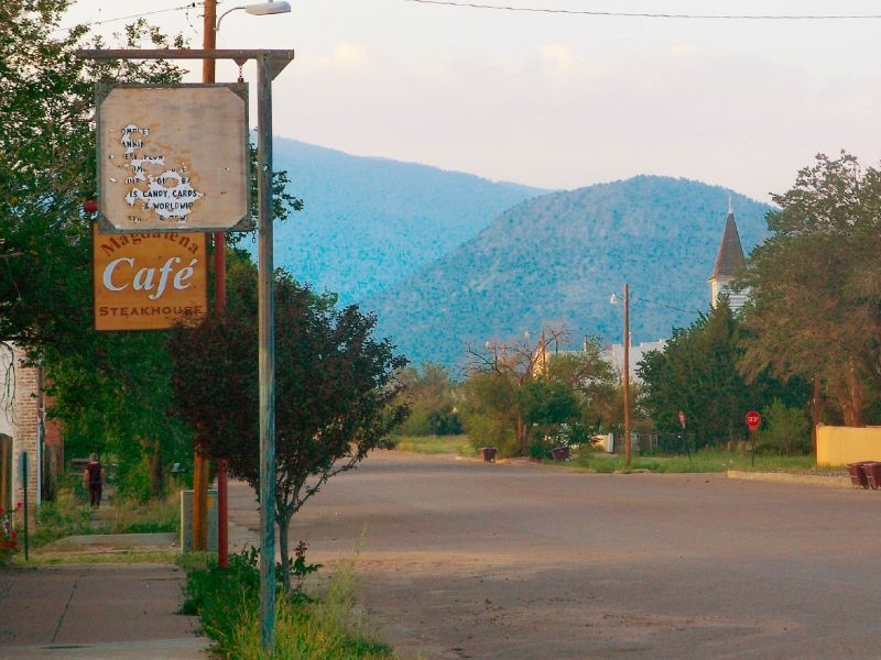 Main Street in Magdalena, New Mexico in 2007.