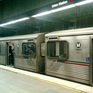 The Red Line as it passes through downtown's Union Station stop.