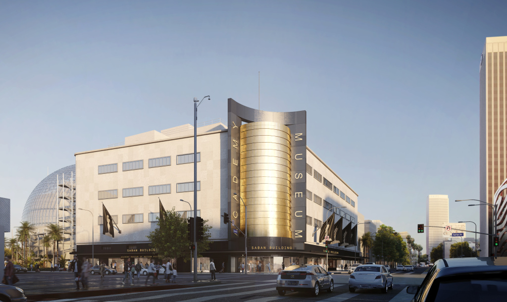 Rendering of the Academy Museum of Motion Pictures.