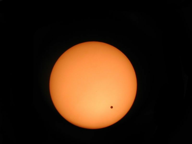 A view of the transit of Venus from a Celestron 8