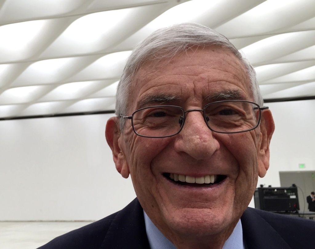 A broad smile from Eli Broad, the billionaire whose art collection will be shown in The Broad on Grand Ave. in Downtown LA.
