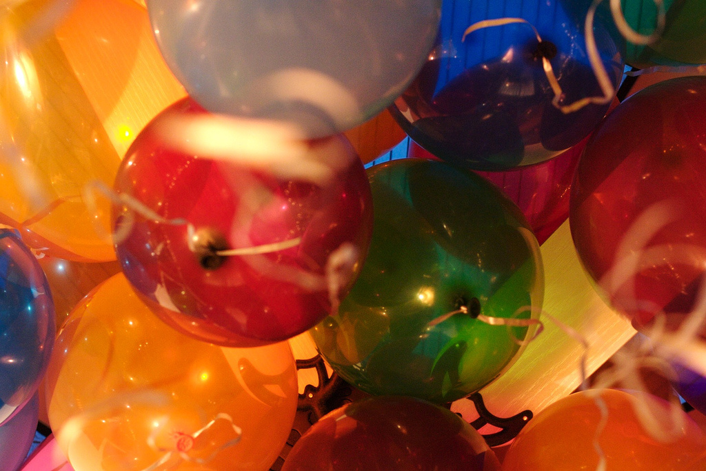 Celebrating New Year's Eve with your kids may involve a lot of balloons.