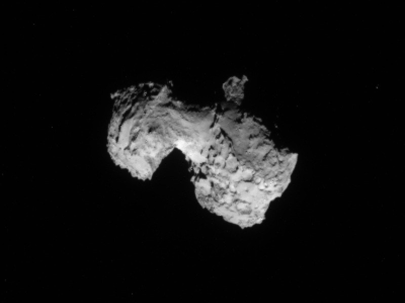 The Rosetta Spacecraft is within 186 miles of 67P/Churyumov-Gerasimenko, less than the distance from New York to Boston.