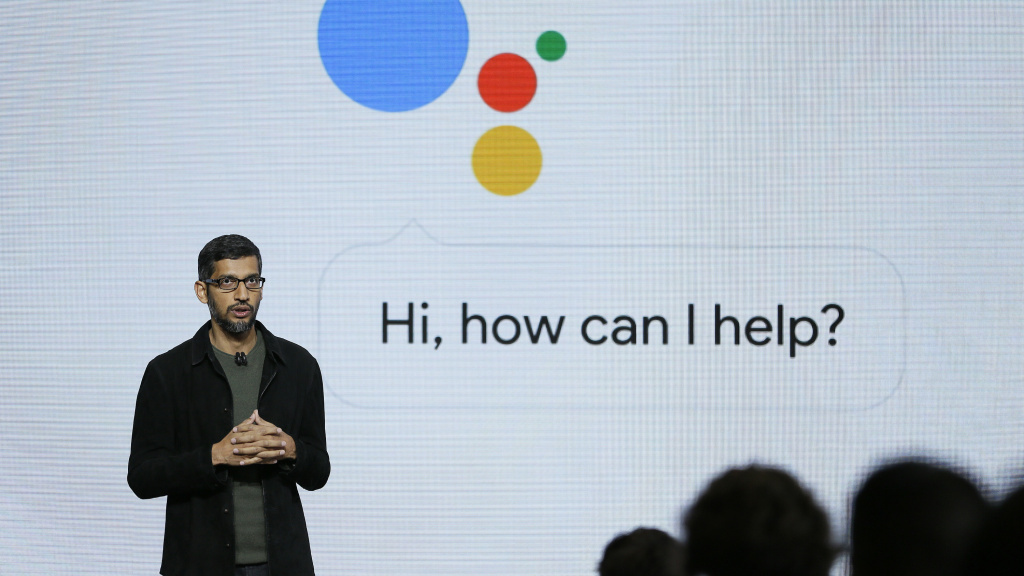 Google CEO Sundar Pichai talks about the Google Assistant.