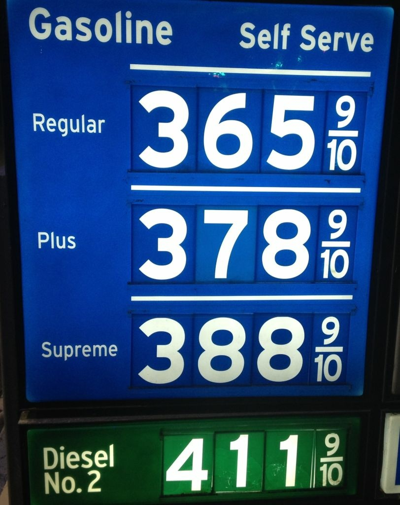 Gasoline prices dropped Friday, December 28, 2012 in most counties in Southern California. The average price of a gallon of self-serve regular unleaded in L.A. County was $3.58. In Riverside and San Bernardino counties the price was $3.54, in Orange County it was $3.55.