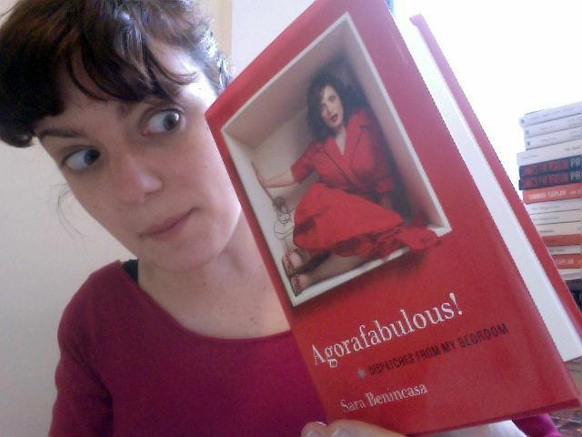Comedian Sara Benincasa with her new book,