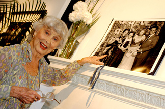 File photo: Socialite Betty Garrett gestures as she attends an exhibition of newly discovered images by Hollywood photographer Frank Worth called 'Worth Exposing Hollywood' at the Twentieth Century Theatre October 24, 2002 in London, England.