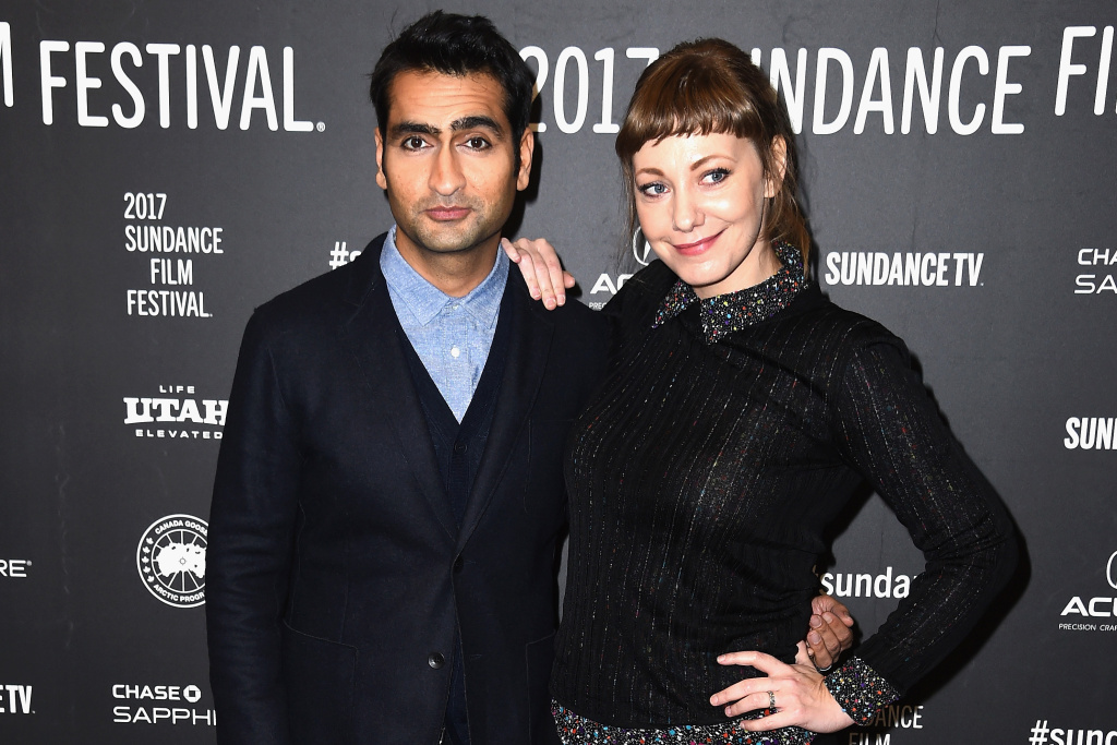 Actor Kumail Nanjiani and Emily Gordon attend the
