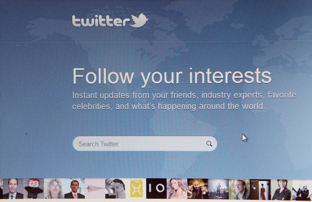 A close-up view of the homepage of the microblogging website Twitter on June 1, 2011 in London, England.
