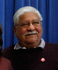 FILE: Richard Chavez, brother of labor leader and civil rights activist Cesar Chavez, poses during the unveiling of the mosaic mural portrait ceremony commemorating Cesar Chavez Day, in this March 31, 2010 file photo taken in Washington. Chavez, who helped his brother Cesar Chavez build the United Farmworkers of America, passed away at a Bakersfield hospital Wednesday July 27, 2011 of complications from surgery, union spokeswoman Maria Machuca said.