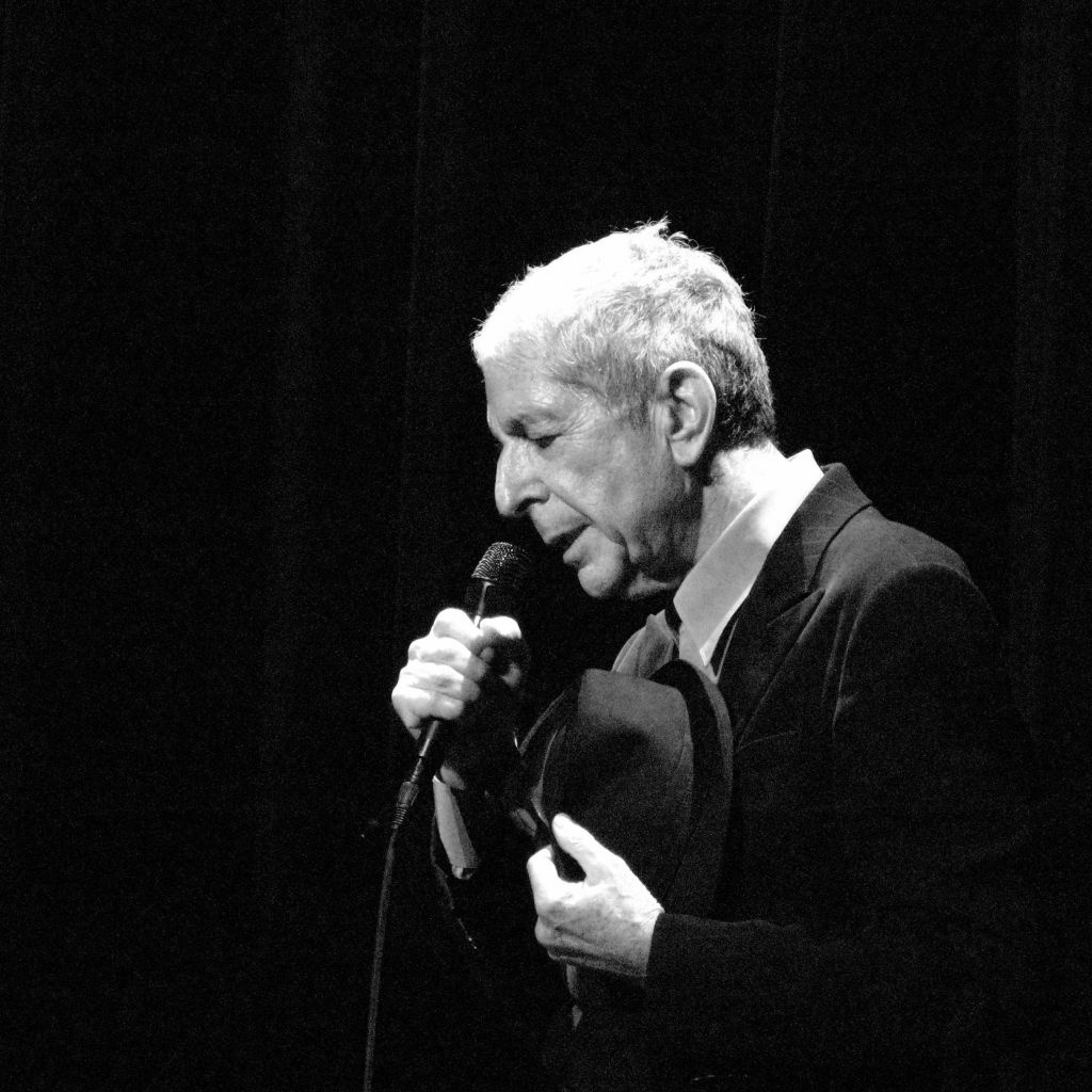 Leonard Cohen performs in Geneva in 2008.