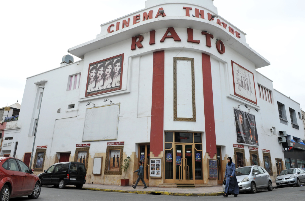A picture taken on April 18, 2012 shows the Rialto in Casablanca, one of the city's first cinemas, designed in 1930 by French architect Pierre Jabin.