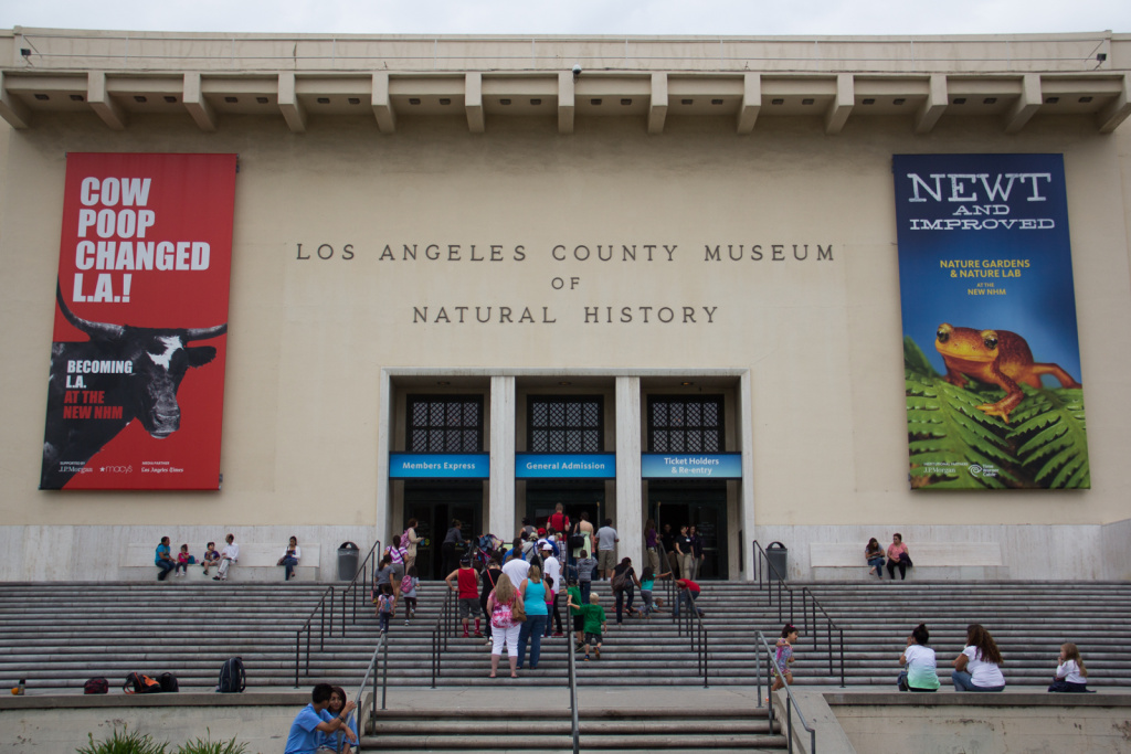 The Los Angeles County Natural History Museum.