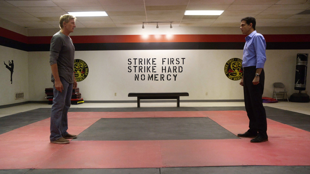 William Zabka and Ralph Macchio star in <em>Cobra Kai</em>, which revisits Johnny Lawrence and Daniel LaRusso more than 30 years after <em>The Karate Kid</em>.