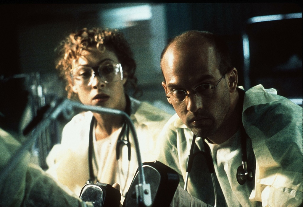 File: Anthony Edwards and Alex Kingston star in ER in this 1999 photo.