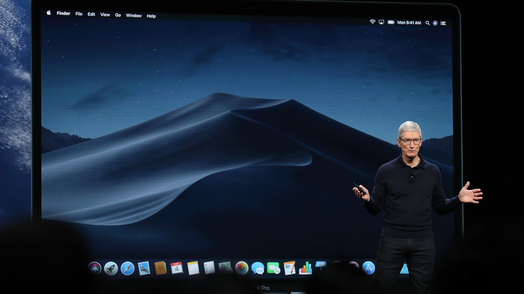 Apple CEO Tim Cook speaks Monday during the 2018 Apple Worldwide Developer Conference at the San Jose Convention Center.