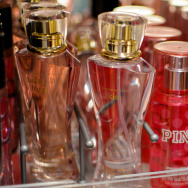 A display of Victoria's Secret perfume