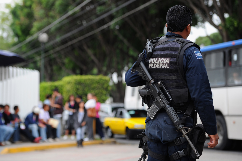 Police forces patrol on the streets of Guadalajara, Mexico. Mexican authorities say they'll miss another deadline for certifying and vetting the nation's police officers.
