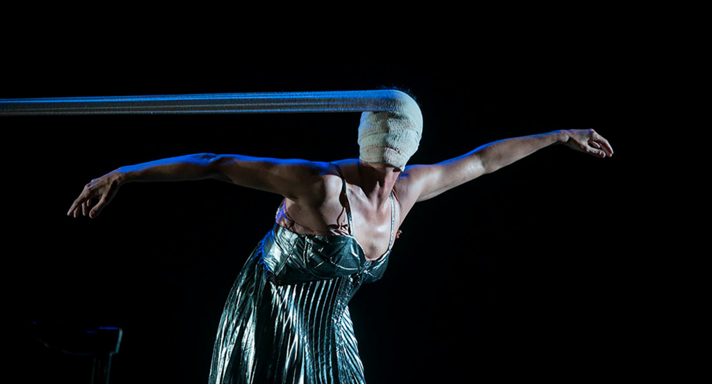 Spanish performance artist Marta Carrasco in her dance theater piece,