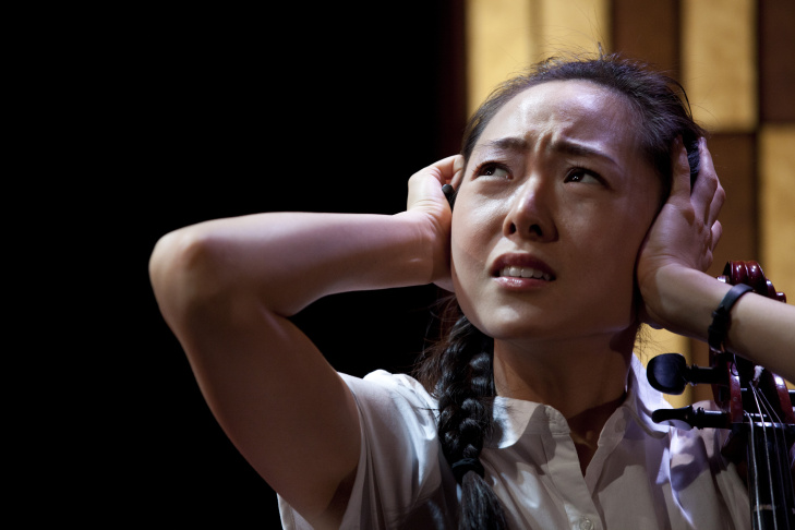 Janice Pak, Julia Cho, and Sharon Omi, who plays Sah-Jin, star in '99 Histories.' The play, written by Julia Cho and directed by Leslie Ishii, examines how a mother-daughter pair confronts - and denies - mental illness.