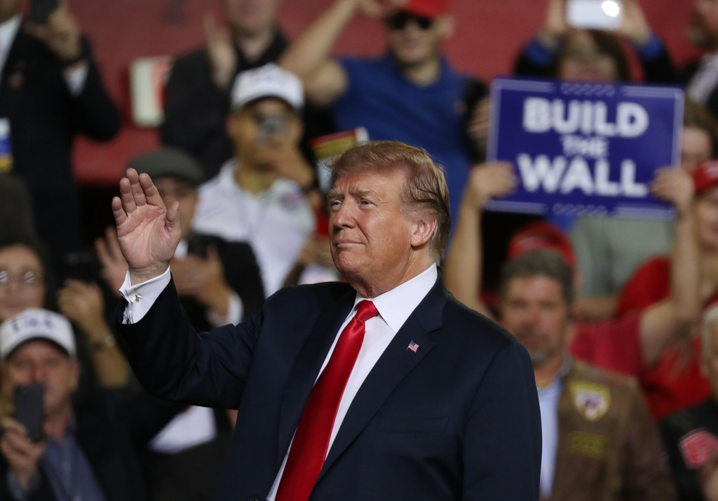 U.S. President Donald Trump attends a rally at the  El Paso County Coliseum on February 11, 2019 in El Paso, Texas