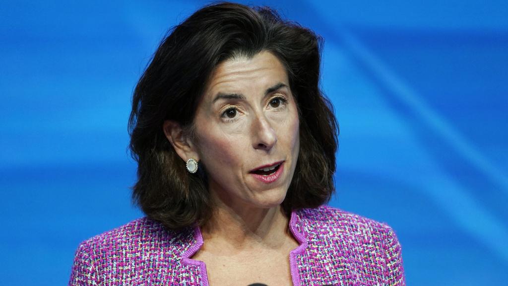 Secretary of Commerce Gina Raimondo says the U.S. is clear