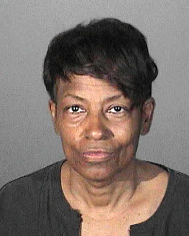 This April 30, 2015, booking photo provided by the Los Angeles County Sheriff's Department, shows Tonette Hayes, who was arrested on suspicion of impersonating a police officer through his role in an organization known as the Masonic Fraternal Police Department, sheriff's authorities said. Hayes and two others are accused of operating a rogue police force that claims to have been in existence for more than 3,000 years and has jurisdiction in 33 states and Mexico, authorities said Tuesday, May 5, 2015.