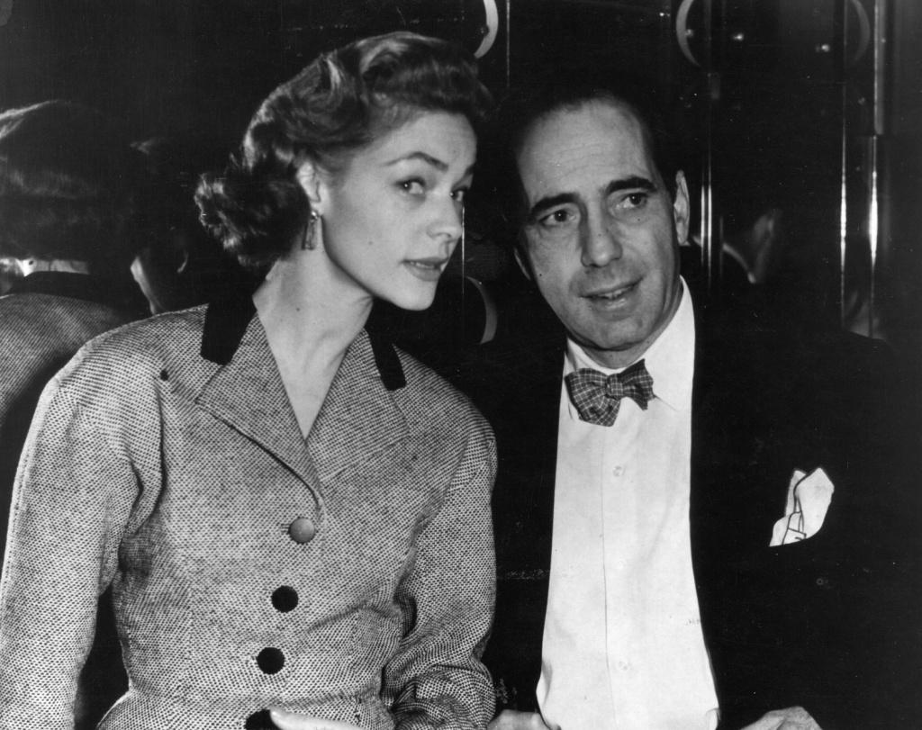 April 16, 1951: Humphrey De Forest Bogart (1899 - 1957), American film actor with his wife Lauren Bacall, originally Betty Joan Perske