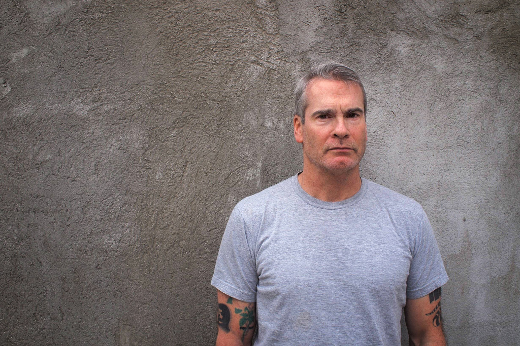 Henry Rollins stands outside his home in Hollywood. On Feb 8, 2014, Rollins received the Ray Bradbury Creativity award from Woodbury University in Burbank.