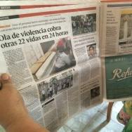 A newspaper chronicles the ongoing violence in Honduras.
