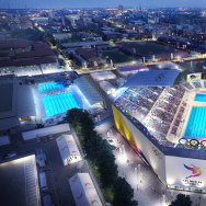 LA2024 Aquatics venue rendering