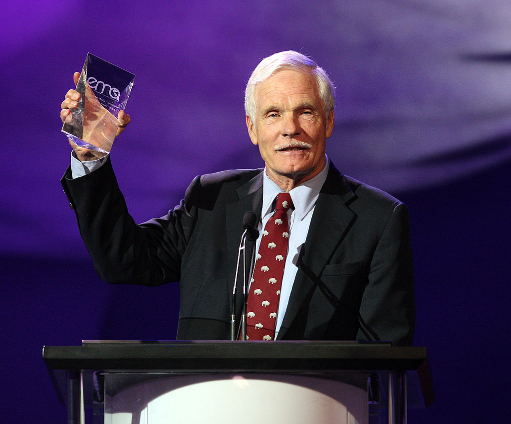 Ted Turner speaks during the 20th annual Enviornmental Media Association Awards at Warner Brothers Studios on October 16, 2010 in Burbank, California.