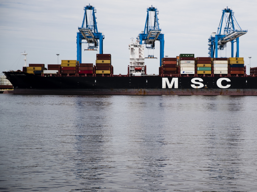 The MSC Gayane, pictured here at the Packer Marine Terminal in Philadelphia, was recently seized by federal authorities as part of an investigation linked to a massive cocaine bust.